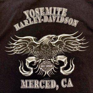 HARLEY DAVIDSON black Yosemite 2004 t-shirt XL
